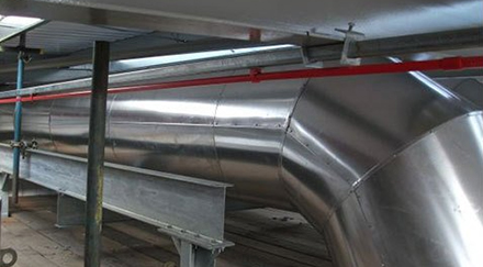 Indoor Industrial steel ducting ventilation system
