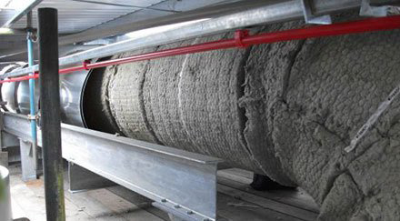 Indoor insulated steel ducting ventilation system