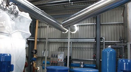 Indoor Industrial steel ducting system